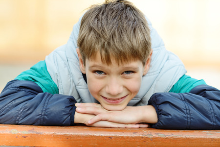 nine years old: portrait of 8 years old boy Stock Photo