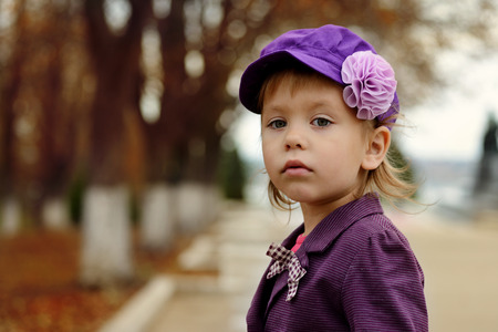 fashion toddler girl in fall photo