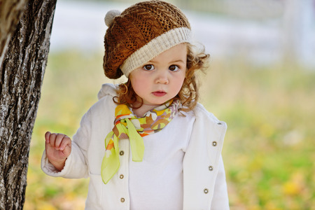one family: lovely and fashion toddler girl Stock Photo