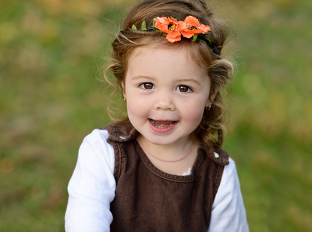 toddler: lovely toddler girl with happy smile