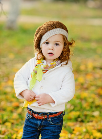 baby girl: fashion toddler  girl in fall time