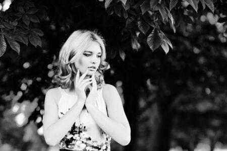 summer portrait of a pretty teen girl photo