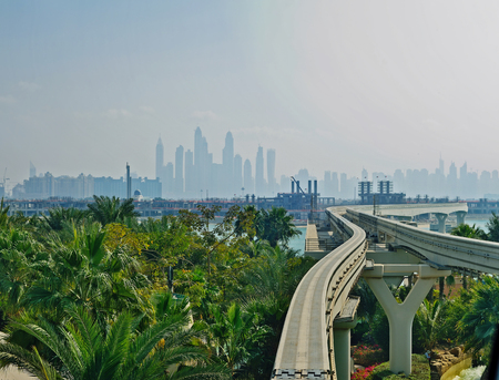 monorail: monorail in Dubai city, United Arabian Emarates
