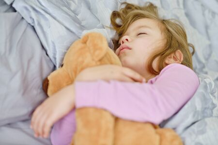 animal angelic: dreams of the toddler sweet girl with her bear