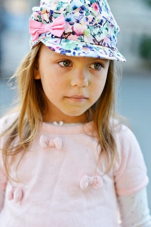 portrait of sweet and pretty little girl photo