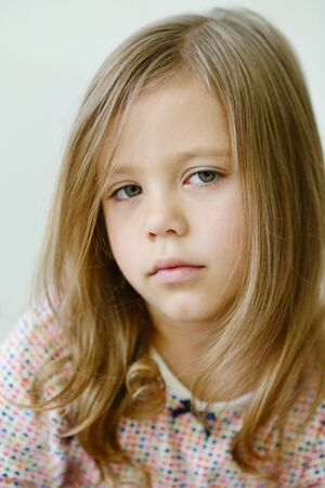 portrait of the sweet and cute  little girl photo