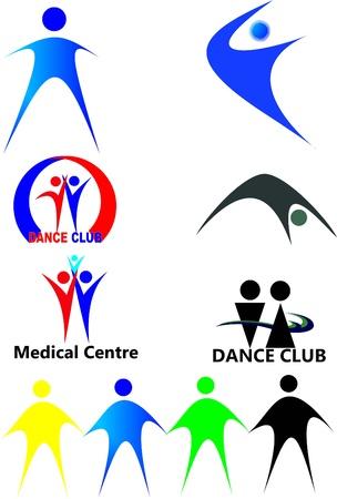 Personas figuras y logotipos