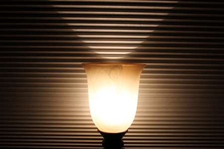 room accents: Morbido lampada incandescente Archivio Fotografico