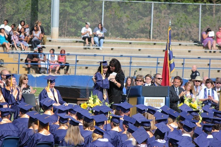 Alexander County, Taylorsville, North Carolina, USA - June 09, 2012 - Alexander Central High School Graduation Ceremony (2012)
