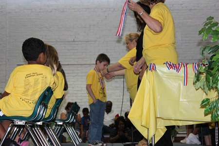 kindergartner: Alexander County, Stony Point, North Carolina, USA - June 08, 2012 - Stony Point Elementary School Kindergarten Graduation Ceremony (2012)