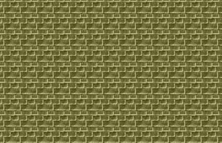 olive green: Olive Green Brick Illustration Stock Photo
