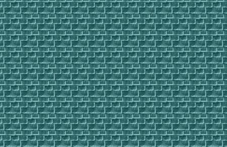 Teal Green Brick Illustration Stock Photo