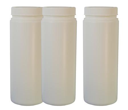 白いプラスチック製のボトル