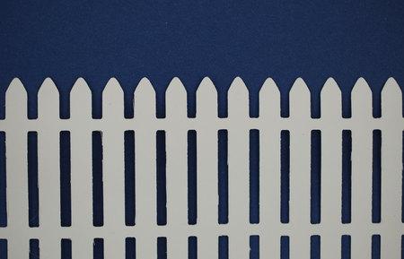ritagliare: Carta steccato bianco tagliato
