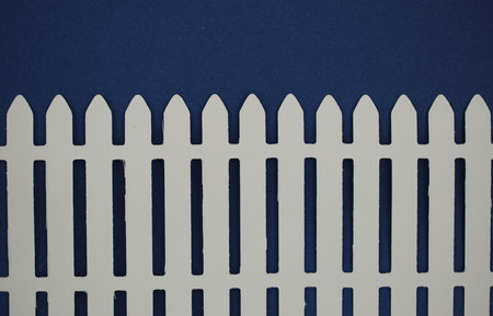 paper cut out: White picket fence paper cut out Stock Photo