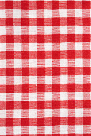 Red and White Checkered Tablecloth Background photo