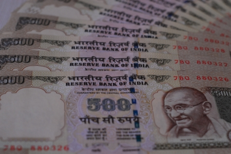 rupees: Indian rupees - 500 rupee notes