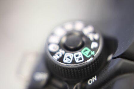 the controls of a digital single-lens reflex camera Banque d'images - 132561810
