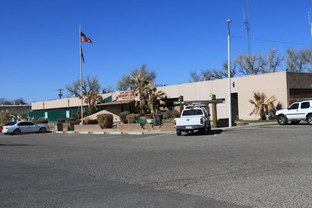 Nogales, Ariz.  US - March 8, 2011: The exterior of the old, outdated Santa Cruz County Sheriffs Office and jail.