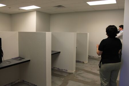 Nogales, Ariz.  US - March 8, 2011: The visitation areas of the Santa Cruz County Sheriff departments new jail facility.