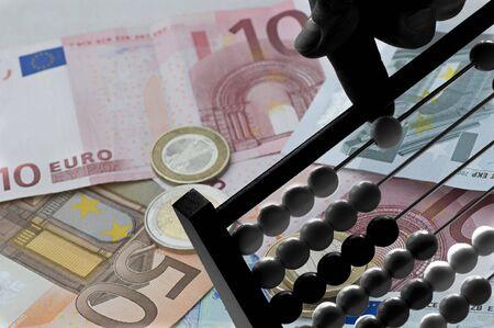 Geld rechnen Stock Photo