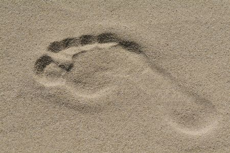 Sand Foot Stock Photo