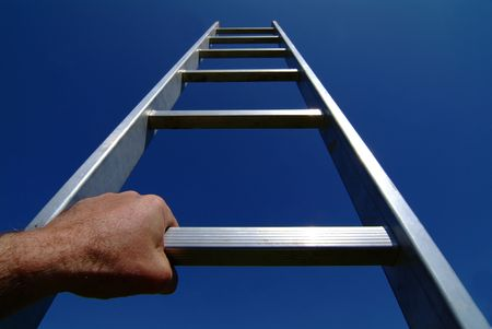 rungs: Ladder to success Stock Photo