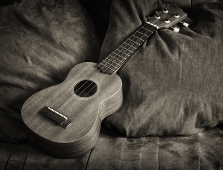 guitar in black and white Stock Photo