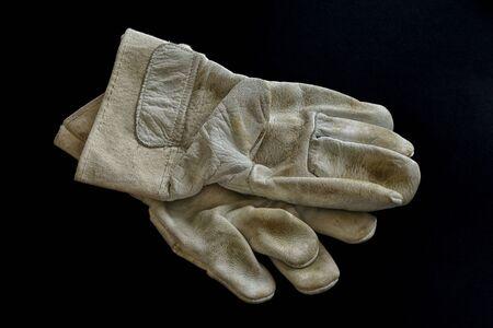 Work gloves on a black background Banco de Imagens