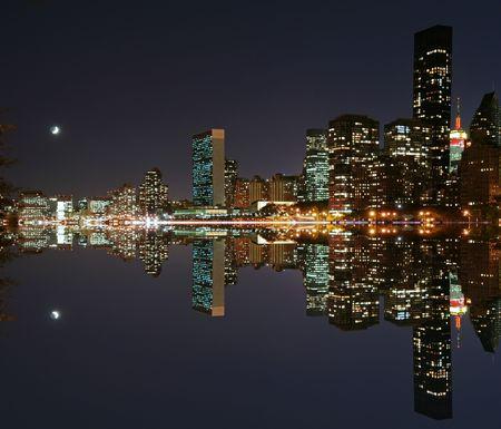 Moonlight over midtown Manhattan Stock Photo - 783665