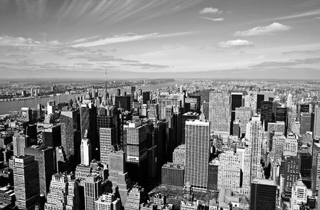 central: Vista a�rea de Manhattan