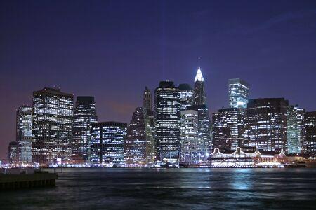 Lower Manhattan at night Stock Photo - 886735