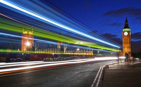london bridge: Traffic through London Stock Photo