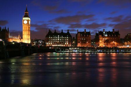 large: London skyline at twilight Stock Photo