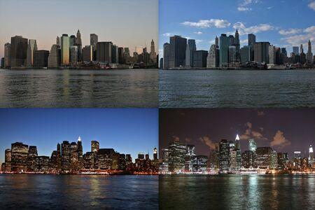 lapse: Manhattan time lapse Stock Photo