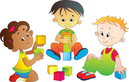 three international babes play Ilustração