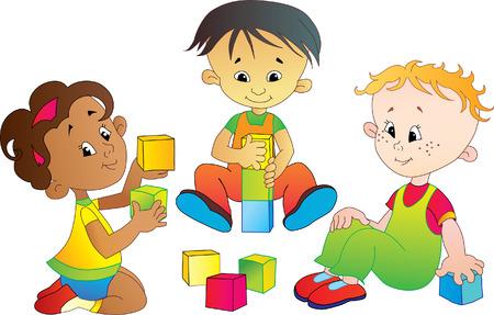 three international babes play Illustration