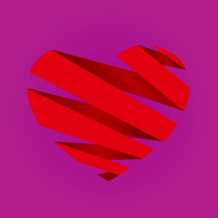 paper heart: Valentines day abstract background with cut paper heart. Vector illustration