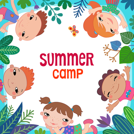 eco tourism: Summer poster. Vector illustration.