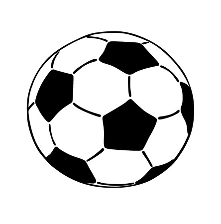 Soccer ball icon isolated on white background.