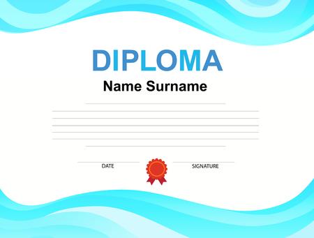 Kids Diploma certificate background design template Imagens - 94398574