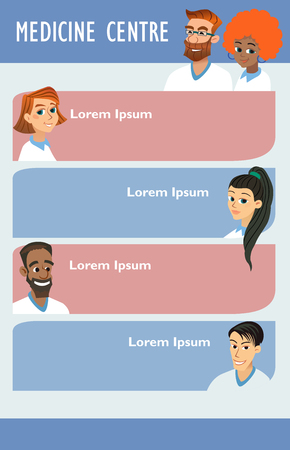 vector medicine brochure cards . lab template of flyear, magazine, poster, book cover, banner. Science people with medic concept background. illustration scientist modern Illustration