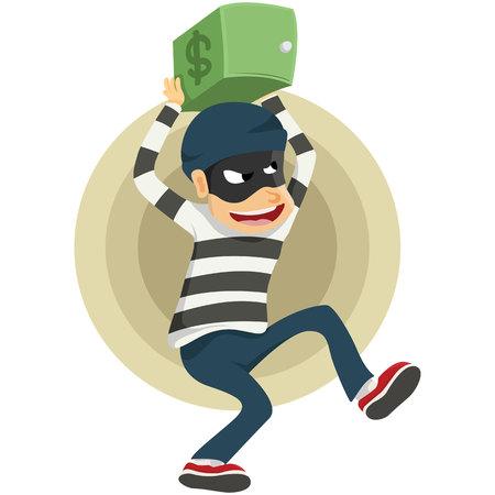 run away: thieves run away with safe deposit box