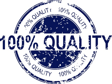 quality seal: Vintage vector 100% quality rubber stamp Illustration