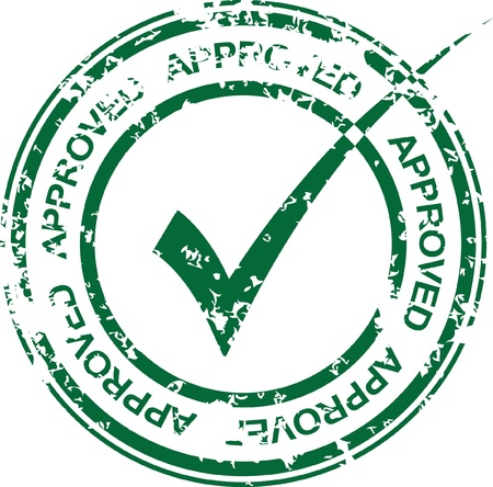 approved icon: Vintage vector approved rubber stamp