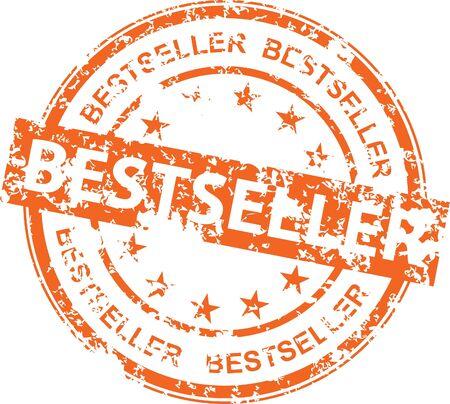 Vintage vector bestseller rubber stamp Illustration
