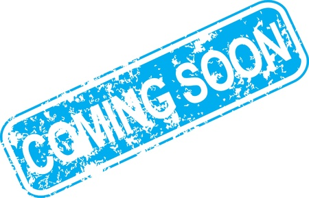 soon: Vintage vector coming soon rubber stamp Illustration