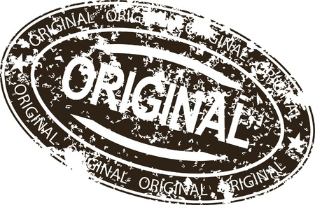 grunge stamp: Vintage vector original rubber stamp