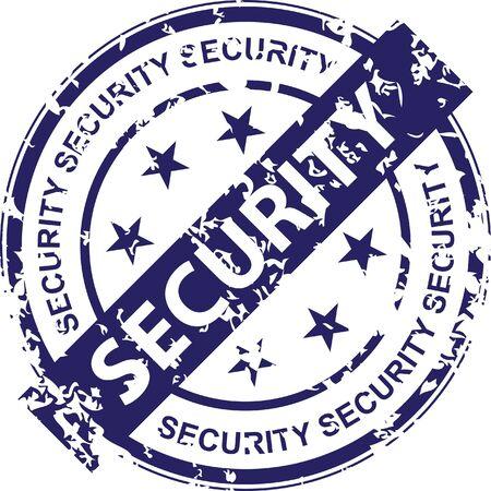 Vintage vector security rubber stamp