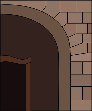 archway:  Brown Archway   Illustration